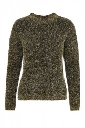 Soaked In Luxury - Strik - Sparkle Pullover - Black With Silver And Gold