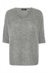Soaked In Luxury - Strik - Tuesday Jumper - Medium Grey Melange