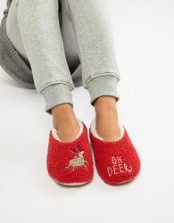 Sock Shop Reindeer Slipper - Red