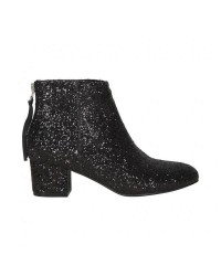Sofie Schnoor Boot Glitter Low Heel (Sort, 38)