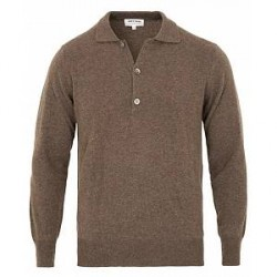 Soft Goat Cashmere Collar Sweater Mocca