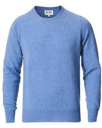 Soft Goat Cashmere O-neck Dusty Blue men L Blå