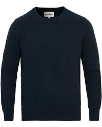 Soft Goat Cashmere O-neck Navy men M Blå