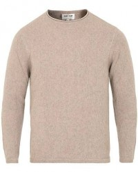 Soft Goat Cashmere Roll Neck Sweater Light Taupe