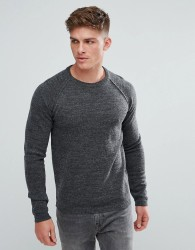 Solid Jumper With Raglan Sleeve - Grey