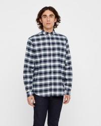Solid langærmet skjorte
