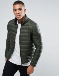 Solid Lightweight Padded Jacket - Green