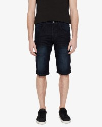 Solid Lt Gr denim shorts