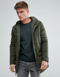 Solid Parka With Hood - Green