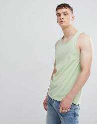 Solid Racer Vest with Raw Edge - Green