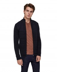 Solid Struan Zip cardigan