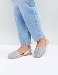 Solillas Silver Glitter Menorcan Sandals - Silver