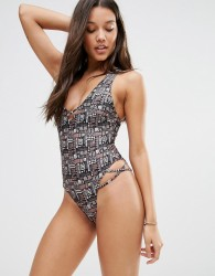 Somedays Lovin Geo Print Swimsuit - Multi