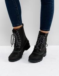 Sorel Emelie 1964 Black Waterproof Leather Boots - Black