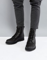 Sorel Madson Waterproof Leather Boots in Black - Black