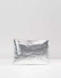 South Beach Metallic Clutch Bag - Silver