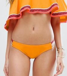 South Beach Trim Bikini Bottom - Yellow