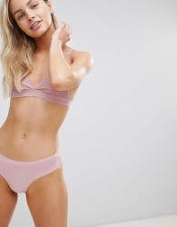 South Beach Ultra Soft Lace Lace Brazilian Briefs - Pink