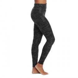 Spanx Faux Leather Camo Leggings - Black pattern-2