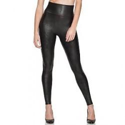 Spanx Faux Leather Leggings - Black - X-Large