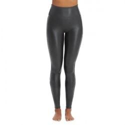 Spanx Faux Leather Pebbled Leggings - Black