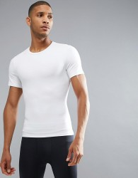 Spanx Performance T-Shirt Zoned Hard Core in White - White