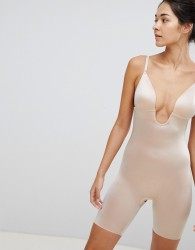 Spanx Suit Your Fancy Low Back Mid Thigh Smoothing Body - Beige