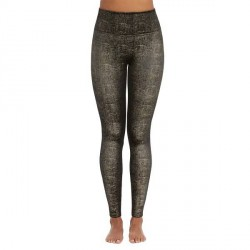 Spanx Velvet Shine Leggings - Black/Gold-2