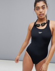Speedo Essential Endurance Medalist swimsuit in black - Black