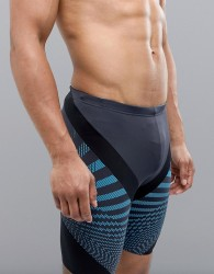 Speedo Jammer Swim Shorts Chevron Print - Grey
