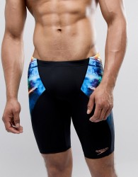 Speedo Jammer Swim Shorts Placement Print - Black
