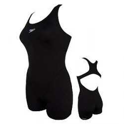 Speedo Myrtle Legsuit Swimsuit - Black - 36