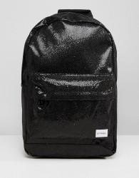 Spiral Glitter Black Glamour Backpack - Black