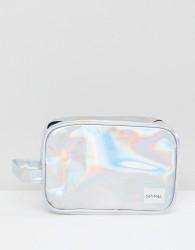 Spiral Silver Rave Wash Bag - Silver