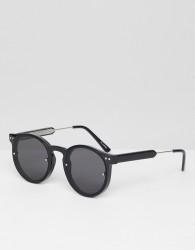 Spitfire Post Punk round sunglasses in black - Black