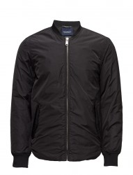 Sporty Nylon Bomber With Racing Stripe Details