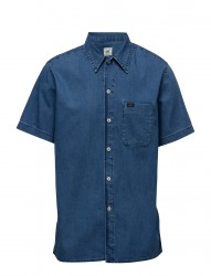 Ss Shirt Micro Blue