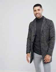 Stanley Adams Textured Twist Overcoat - Black