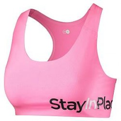 Stay In Place StayInPlace Active Sports Bra A-B - Pink - Large