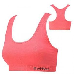 Stay In Place StayInPlace Line Seamless Bra A/B Corall - Coral - Large * Kampagne *