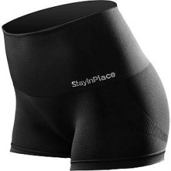 Stay In Place StayInPlace Line Seamless High Boxer - Black - Medium