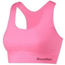 Stay In Place StayInPlace Rib Seamless Bra - Lightpink - Small