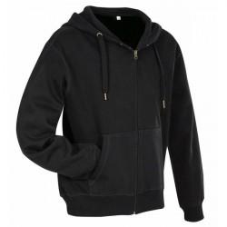 Stedman Active Hooded Sweatjacket For Men - Black * Kampagne *