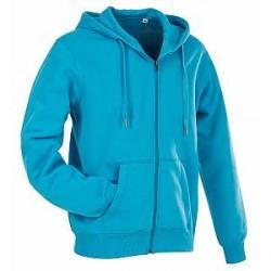 Stedman Active Hooded Sweatjacket For Men - Blue - Large