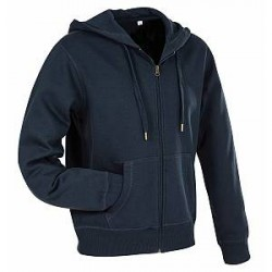 Stedman Active Hooded Sweatjacket For Men - Darkblue - Large