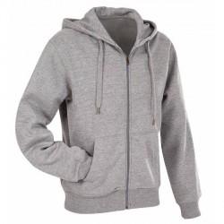 Stedman Active Hooded Sweatjacket For Men - Greymarl * Kampagne *