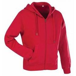 Stedman Active Hooded Sweatjacket For Men - Red - Large