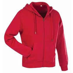 Stedman Active Hooded Sweatjacket For Men - Red - Small
