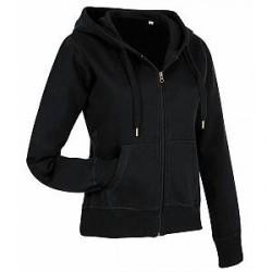 Stedman Active Hooded Sweatjacket For Women - Black - X-Large