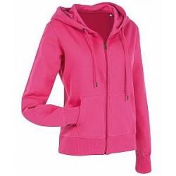 Stedman Active Hooded Sweatjacket For Women - Pink - Medium